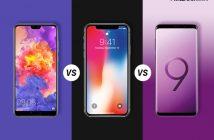 Huawei P20 Pro Vs Apple iPhone X Vs Samsung Galaxy S9+