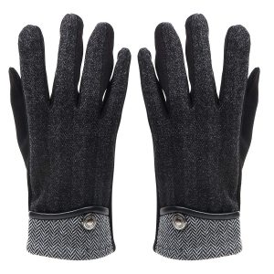 Bonjour Plain Solid Winter Gloves