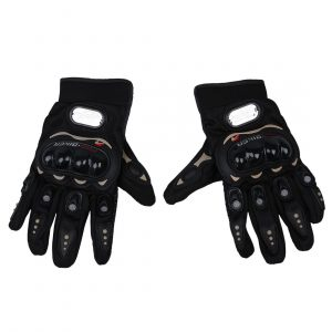 SODIAL Thermal Winter Sports Leather Gloves