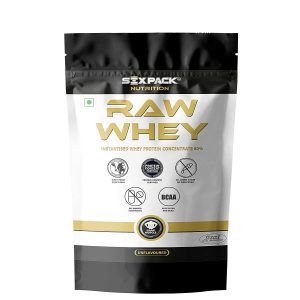 Six Pack Nutrition Raw Whey Protein Concentrate 80% Unflavored