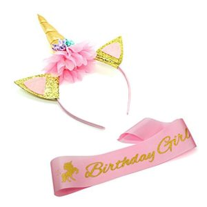 Party Propz 2Pcs Unicorn Birthday Girl Set