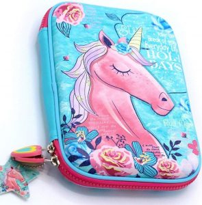 VIHAAN Unicorn Hardtop EVA Embossed Pencil Pouch