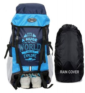 POLESTAR XPLORE 55 Liters with Rain Cover Rucksack Hiking Backpack
